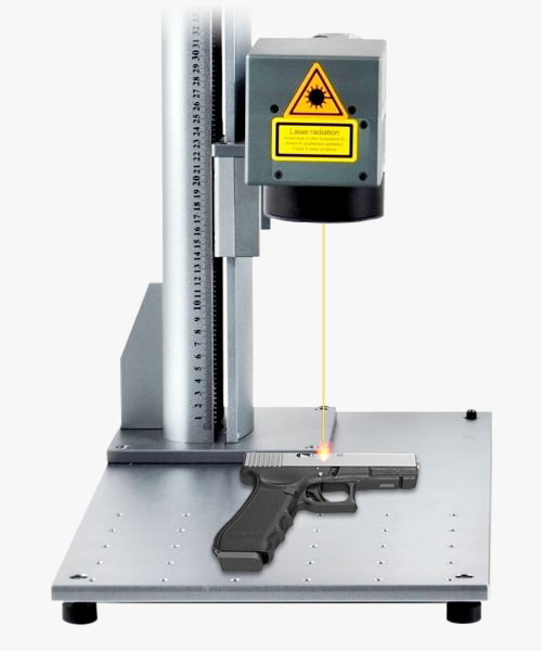 Laser engraver for handguns and firearms