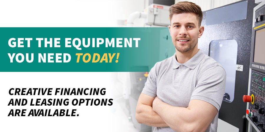Marking equipment financing and leasing are available