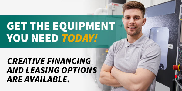 Creative financing and leasing options are available to get you the quipment you need