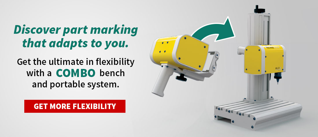 Flexible combo benchtop and portable marking solutions