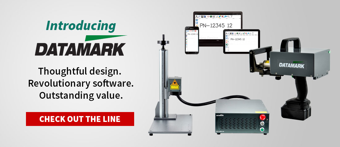 New Datamark dot peen and laser marking solutions