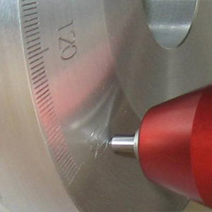 Scribe part marking in a CNC machine / lathe