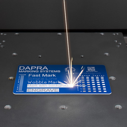 Fast, high-contrast data plate marking