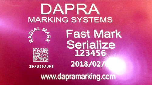Fast, high-contrast anodized aluminum data plate marking