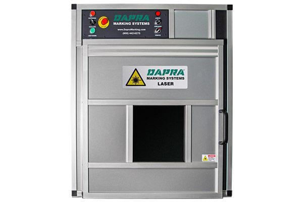 400i series fiber laser part marking workstation with safety enclosure