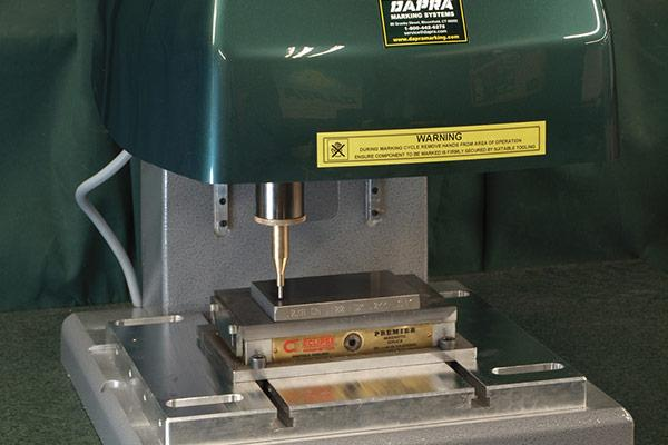 Bench-top systems for precise marking of small parts