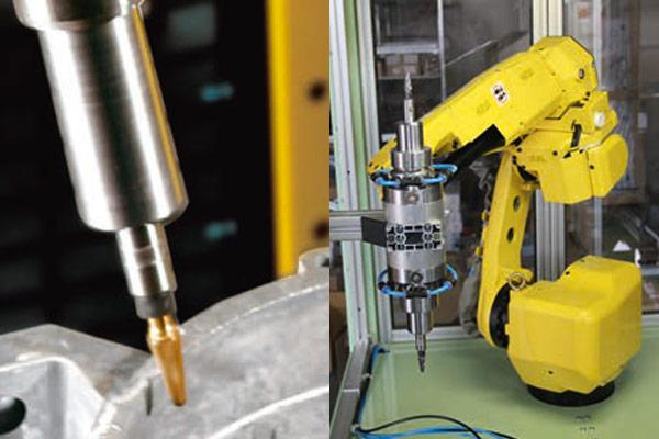 Pneumatic Tools for Automated Deburring - Spindles and Robotic Systems