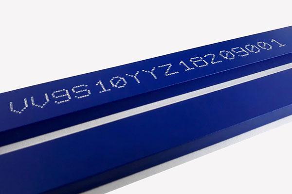 Hand-held VIN number marker