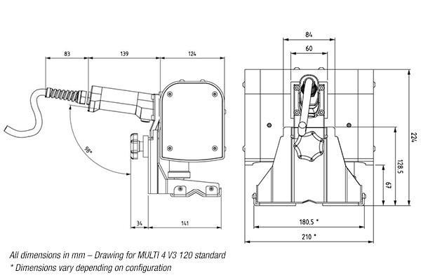 Multi 4 G Standard 120 Dimensions