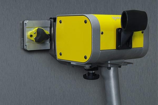Marking with magnetic locator plate