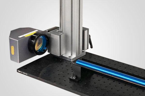 Horizontal fiber laser marking mount