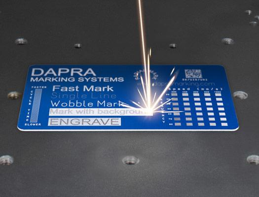 Fiber laser part marking