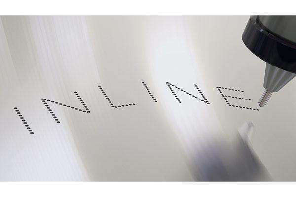 Inline permanent dot peen marking