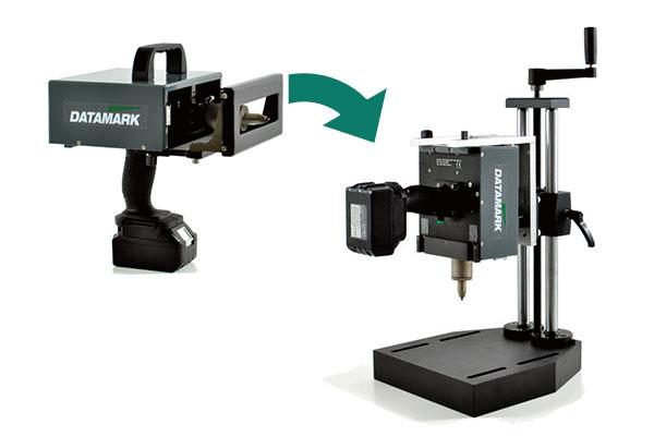 Convert to a benchtop marking station with column-base accessory