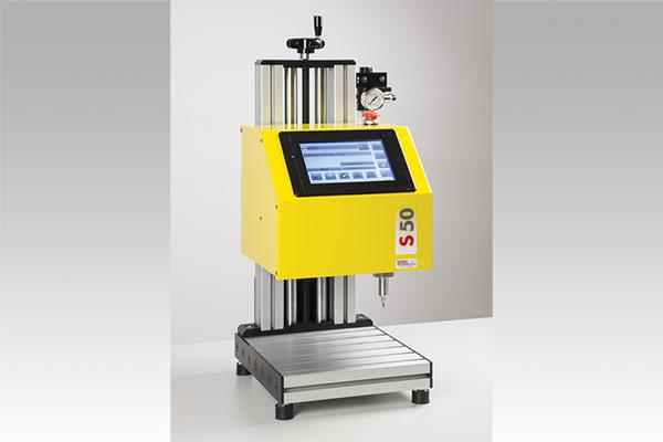 Bench-top pneumatic part marking system