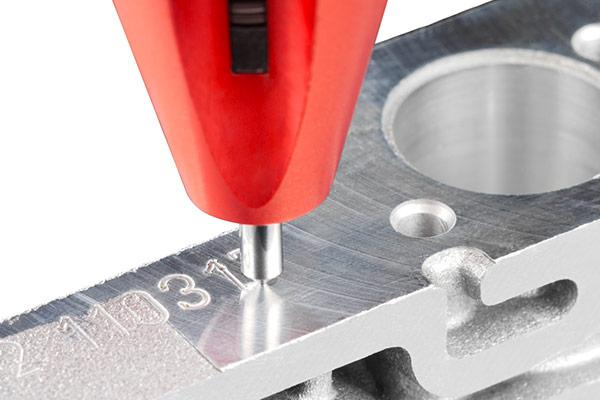 Direct part marking with a CNC scribe tool