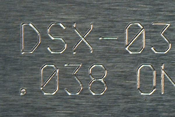 Scribe marking / scratching / engraving - direct part marking