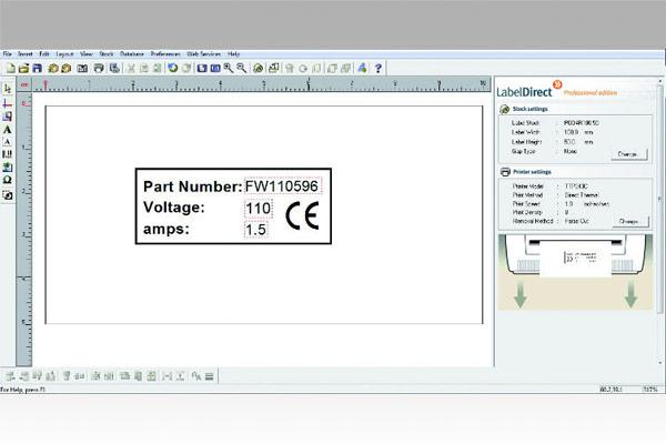 Label Direct software for creating electrochemical marking stencils